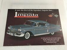 Danbury Mint 1958 Chevrolet Impala Sport Coupe *Original Brochure & Title Only*