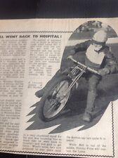 L2-8 Ephemera 1948 Speedway Picture Article Bill Kitchen West Ham Injury