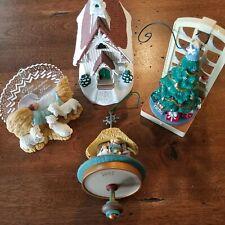 Hallmark Keepsake Ornament Lot of 4 Unboxed Ornaments Christmas Religious