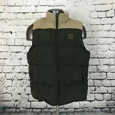 Vintage Field & Stream Men's Vest Green Tan Sherpa Collar Size XL
