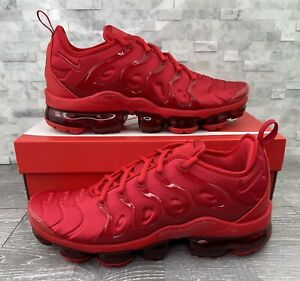 """Nike Air VaporMax Plus """"Triple Red"""" Running Shoe Mens Size 9.5 CW6973-600 New"""