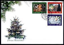Weihnachten. Weihnachtsschmuck: Pferd, Fisch, Schneekristall. FDC. Lettland 2009