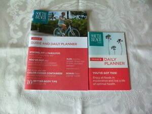 Brand New South Beach Diet Phase3 Guide&Daily Planners-recipes,exercises,tips