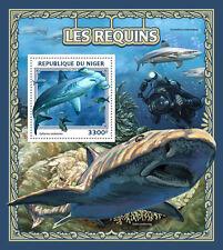 Niger 2016 MNH Sharks 1v S/S Great Hammerhead Shark Marine Animals Stamps