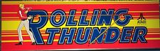"""Rolling Thunder Arcade Marquee 26"""" x 8"""""""