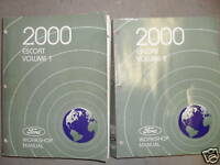 2000 Ford Escort Service Shop Repair Workshop Manual Set OEM Factory 2000 W EWD