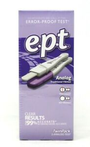 EPT Pregnancy Test  Analog Twin Pack  Easy to Read Exp 07/2022