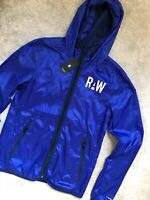 """G-STAR RAW BRIGHT PRINCE BLUE """"PACKABLE"""" LIGHTWEIGHT ZIP JACKET COAT - XS - NEW"""