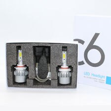 9005 H10 HB3 COB LED Headlight Conversion Kit Bulb 72W 76000 Lumen 6000k White
