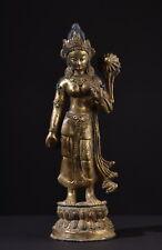Tara. Alte vergoldete Bronze Figur. Old gilt statue (Buddha Tibet Tibetan China)