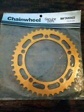 Couronne Takagi Gold OLD SCHOOL BMX 44T chainring  Japan NOS in bag 130 BCD