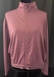 Under Armour Heat Gear Full Zip Up Loose Fit Jacket Maroon Womens Medium