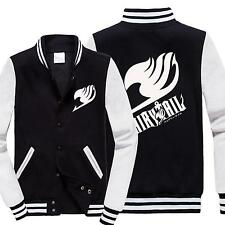 Anime Fairy Tail Guild Emblem Casual Sweatshirt Baseball Black Jacket Coat