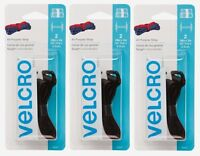 3 New! Velcro Strap 18 in. L x 1 in. W Black 2 pk 90107 Bundling and Storage