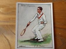1card from wills set of lawn tennis 1931 cigarette cards