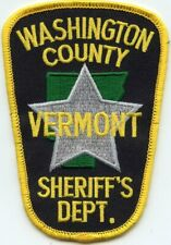 WASHINGTON COUNTY VERMONT VT SHERIFF POLICE PATCH