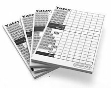 Yatzy Score Sheet Cards X 4 pads (200 sheets)