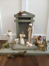 Willow Tree Demdaco 1999 Manger Nativity Set Creche Animals Shepherd Holy Family