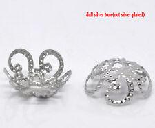 Perlkappen 40 Stück antiksilberfarben für 10 mm Perlen  (10104)