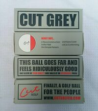 Brand New White Cut Grey Golf Balls - 4 Sleeves (12 Balls) - Free Shipping