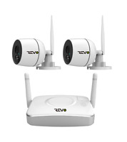 Revo America 4Ch. Wireless Gateway SecuritySystem -1080p Audio Cameras (2 Pcs.)