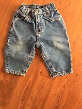 Ralph Lauren Polo Jeans Co. Toddler Snap Closure Blue Jeans Size M (6-12 months)