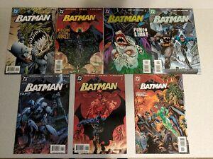 BATMAN LOT OF 7 HUSH STORY-LINE COMICS, VF/NM AVG. 610, 611, 614, 615, 617, 618,