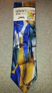 """Jerry Garcia """"Scales"""" Collector Edition tie necktie Blues Gold Gray  Silk NWT"""