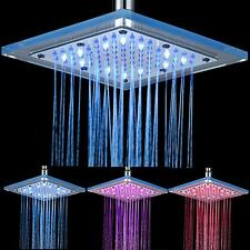 """LED Colors Changing 8"""" Chrome Rain Shower Head Wall / Ceiling Mounted Sprayer"""