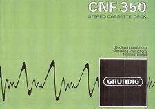 Grundig Bedienungsanleitung für CNF 350