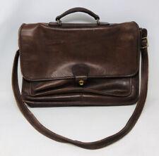 Vintage Coach Brown Leather Mens Messenger Briefcase Bag # 1232-234