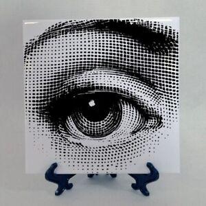 Fornasetti Big Eye Lina Cavalieri Ceramic Tile Classical Optical Illusion Décor