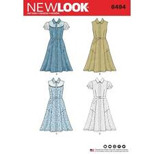 New look sewing pattern misses's robe avec manches variations taille 8 - 20 6494