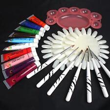 12 Colore 3D Tubetto Colore Disegna Acrilico Tip Nail Art 12ml & Espositore