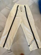 FENTY PUMA by RIHANNA Cream Wide Trousers Pants with Snaps UK 10
