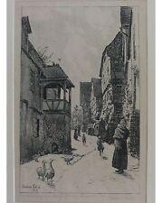 Walter Lilie: Aus Wimpfen - Signierte Original Lithographie - Handdruck von 1919