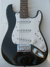 BLACK MINI FENDER SQUIER STRAT STRATOCASTER ELECTRIC GUITAR