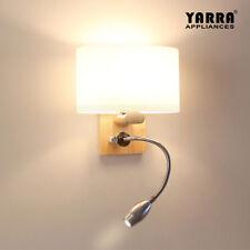 2 in 1 Reading Wall Light Adjustable Lighting Bedside Lamp Bedroom Lights