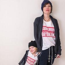 Kids Women Family T-shirt girl boys Cotton Daydreams Short Sleeve Clothes CA