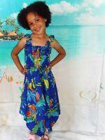 Girls kids white parrot tropical Hawaiian Christmas fancy dress Size 2-5 yrs