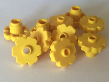 *NEW* LEGO 10 Large Rounded Flower 2x2 YELLOW with OPEN STUD