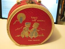 TINY TRIPPER - WORCESTER LUGGAGE CASE - 1950's - BABES IN THE WOOD