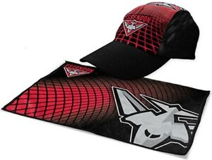 Essendon Bombers Sports Pack | Gym Towel & Cap | AFL Aussie Rules