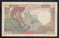 Billet de 50 Francs Jacque Coeur 05-02-1942 TTB ( L 023 )