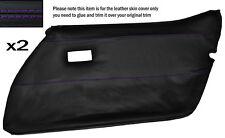 Purple stitch 2x carte de porte avant pleine peau de cuir couvrir fits CORVETTE C3 78-82