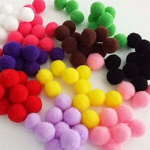 """Pack of 2000 Fuzzy Plush POM POMS 8mm (about 5/16"""") Round Choice of Color"""