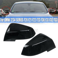Black Wing Mirror Covers For BMW 1/2/3/4 Series F20 F21 F22 F23 F30 F31 F32
