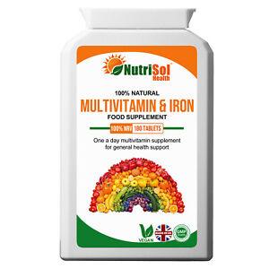 Daily MultiVitamins & Iron 180 Tablets, Optimum Health, General Wellness, Immune