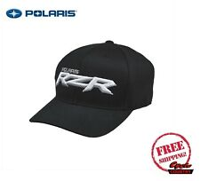 POLARIS RZR CORP SNAPBACK HAT CAP BASEBALL BLACK WHITE ADJUSTABLE NEW