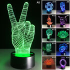 3D Panel  Acrylic USB Color Changing LED Night Light Halloween Lamp